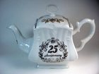 25th Anniversary Square Teapot with Swarovski Crystals