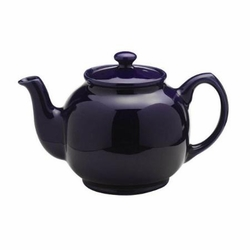 6 Cup Cobalt Blue Brown Betty Teapot