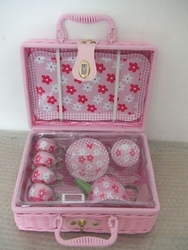 Abigail's Daisy Tin Tea Set for 2