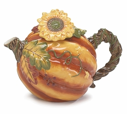 Abundant Harvest Ceramic Teapot - 2 LEFT IN STOCK