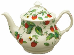 Alpine Strawberry Bone China Teapot