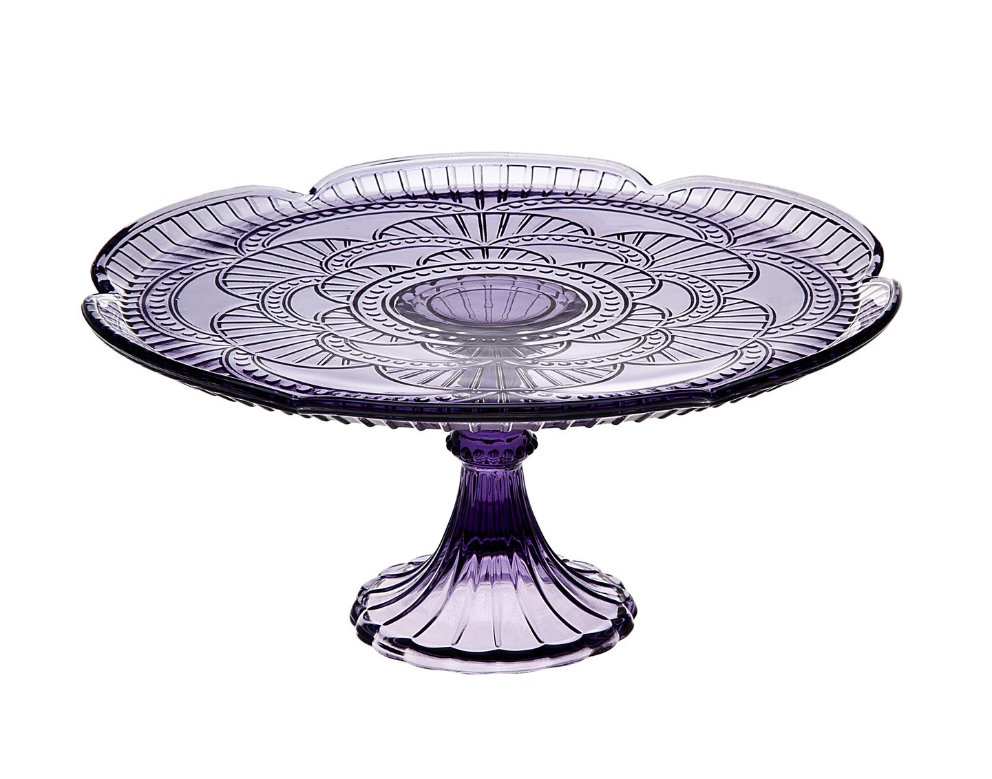 Product Features serve your cakes and muffins with this clear glass rotating cake stand.