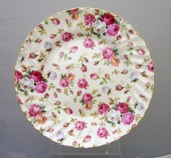 Berta Hedstrom Antique Rose Bone China Dessert Plates - Set of 2