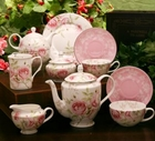 Beau Rose Bone China Tea Set - Service for 4
