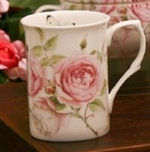 Beau Rose Bone China Mugs - Set of 4