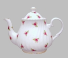 Belle Rose Heirloom Bone China Teapot - 6 Cup