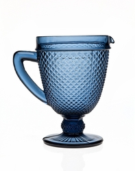 Belmont Blue Glass Pitcher by Godinger