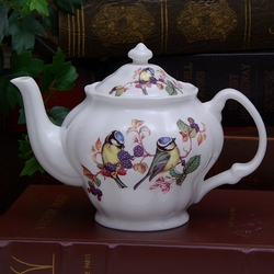 Birds 'n Berries Bone China Teapot