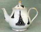 Black Eiffel Tower Teapot - 6 cup