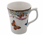 Blue Butterfly Tea Mugs - Set of 4