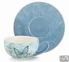Blue Butterfly Tea cups - Set of 4