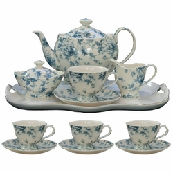 Blue Chintz Porcelain Tea Set