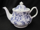 Blue English Chintz Teapot by Roy Kirkham