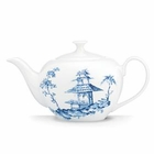 Blue Toile China Teapot by Lenox