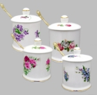 Berta Hedstrom Bone China Jam Jars - Set of 2 pick a pattern