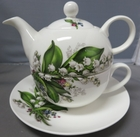 Bone China Lily Tea For One