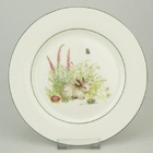 Bunny Bone China Dessert Plates - Set of 4