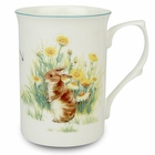 Bunny Bone China Mugs - 10 oz - Set of 4