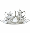 Burgundy 5-Piece Tea Set by Reed & Barton