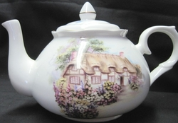 Capper Cottage Bone China Teapot
