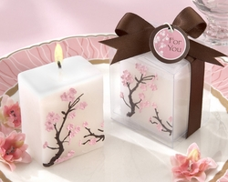 �Cherry Blossom Elegance� Mini-Pillar Candle - Set of 12