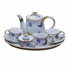 Mini Child's Tea Set - Blue Butterfly