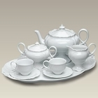 White Children's Prussian Pedestal Tea Set - For 2