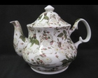 Chintz White Rose Teapot