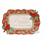 Christmas Cardinal Holiday Platter by Kaldun & Bogle