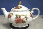 Christmas Poinsettia Princess Teapot