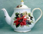 Fielder Keepsakes - Christmas Poinsettia Teapot - 6 Cup