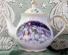 Fielder Keepsakes - Christmas Snow People Teapot - 6 Cup