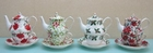 Christmas Teapots for One - Set of 4 Assorted