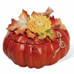 Chrysanthemum Pumpkin Soup Tureen with Ladle