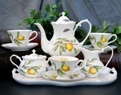 Citrus Yellow  Tea Set  11 Piece Set