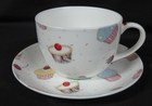 Cupcakes Cup and Saucer - Set of 2