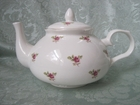 Dot Rose Bone China Tea Pot - 2 Cup