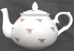 Dot  Rose Bone China Teapot from England