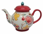 Dutch Red Floral Teapot