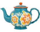 Dutch Teal Gold Teapot