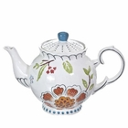 Dutch Wax Floral Teapot