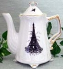 Eiffel Tower Black - 2 Cup Teapot