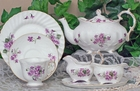 Elizabeth Grey Violets Bone China Tea Set  by Heirloom