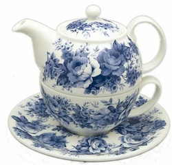 English Chintz Tea Pot for One by Roy Kirkham