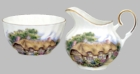 English Cottage Bone China Cream and Sugar