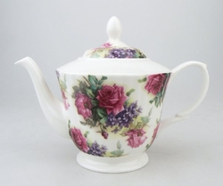 English Rose Bone China Teapot