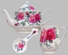 English Rose Teapot Set for 2