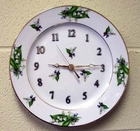 "Fielder Keepsakes Porcelain Clock - ""Choose a Pattern"""
