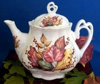 Fielder Keepsakes Fall Leaves Ashley Teapot