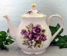 Fielder Keepsakes Pansy Tall Teapot - 6 cup